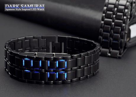 خرید ساعت مچی سامورایی LED آبی رنگ سیه