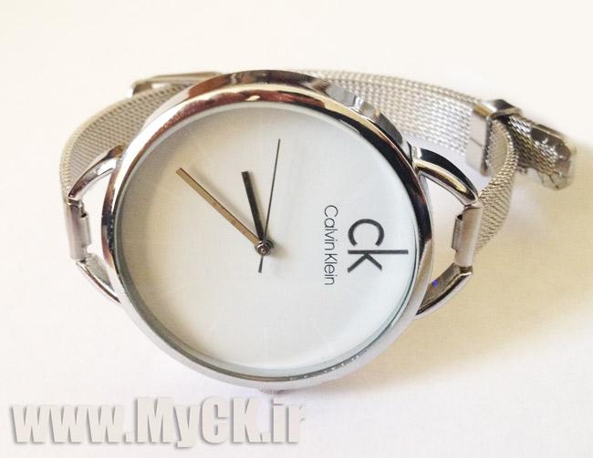 ساعت CK حصیری نقره ای